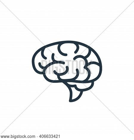brain icon isolated on white background from health and protection collection. brain icon thin line
