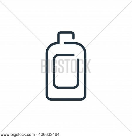 bottle icon isolated on white background from virus transmission collection. bottle icon thin line o
