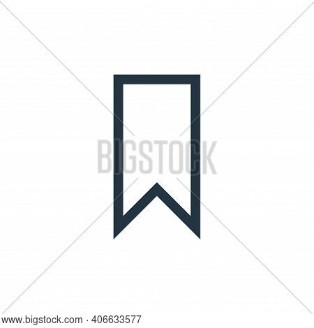 bookmark icon isolated on white background from web essentials collection. bookmark icon thin line o