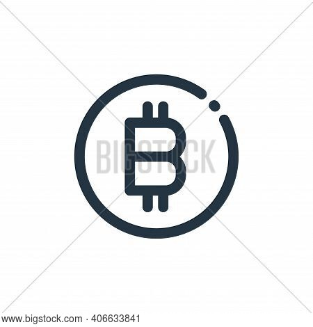 bitcoin sign icon isolated on white background from currency collection. bitcoin sign icon thin line