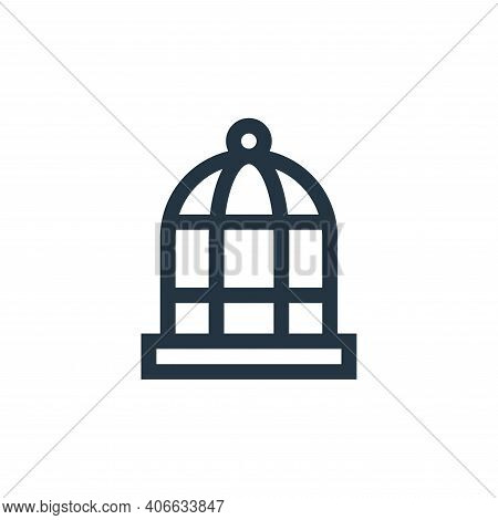 bird cage icon isolated on white background from mental health collection. bird cage icon thin line