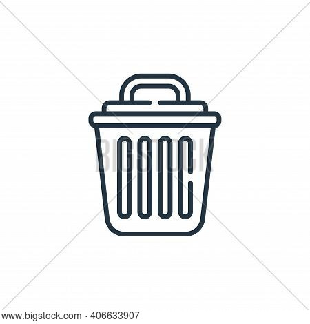 bin icon isolated on white background from bathroom collection. bin icon thin line outline linear bi