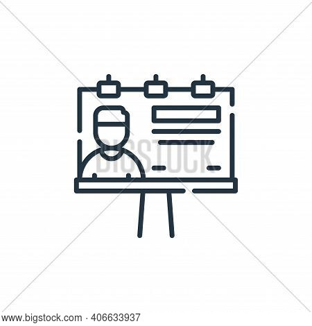 billboard icon isolated on white background from fame collection. billboard icon thin line outline l