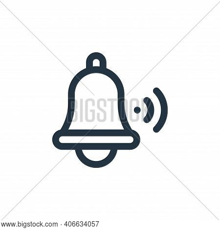 bell icon isolated on white background from internet of things collection. bell icon thin line outli