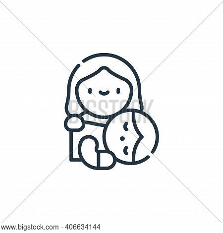 bed time icon isolated on white background from family life collection. bed time icon thin line outl