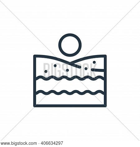 beach icon isolated on white background from europe collection. beach icon thin line outline linear