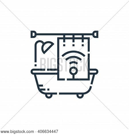 bathroom icon isolated on white background from smarthome collection. bathroom icon thin line outlin
