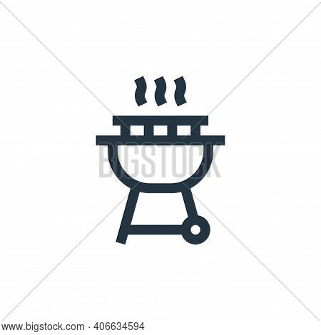 barbecue icon isolated on white background from united states of america collection. barbecue icon t