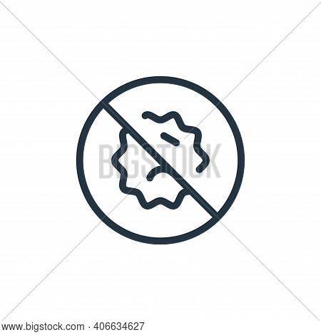 banned icon isolated on white background from coronavirus collection. banned icon thin line outline