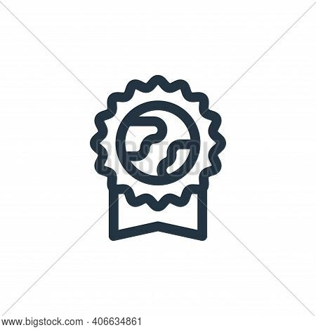 badge icon isolated on white background from mother earth day collection. badge icon thin line outli