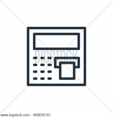 atm machine icon isolated on white background from banking and finance flat icons collection. atm ma