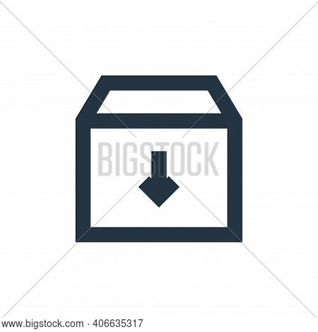 archive icon isolated on white background from user interface collection. archive icon thin line out