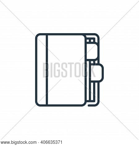 appointment book icon isolated on white background from management collection. appointment book icon