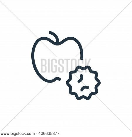 apple icon isolated on white background from coronavirus collection. apple icon thin line outline li