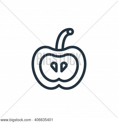 apple icon isolated on white background from school collection. apple icon thin line outline linear