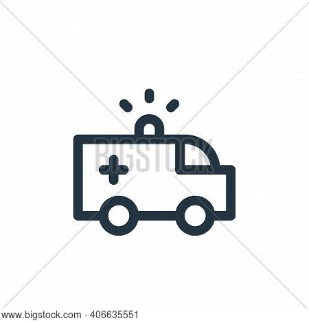 ambulance icon isolated on white background from emergencies collection. ambulance icon thin line ou