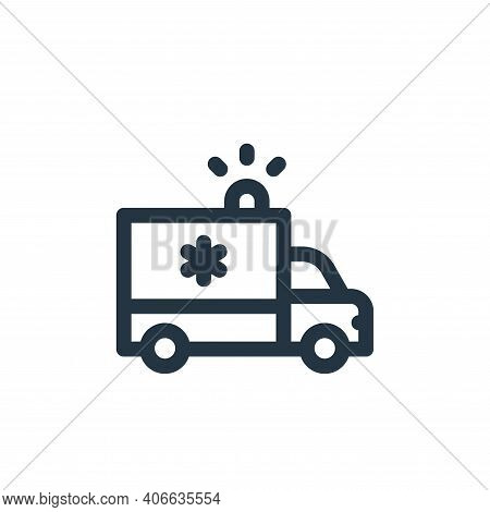 ambulance icon isolated on white background from health collection. ambulance icon thin line outline