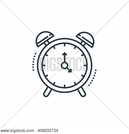 alarm clock icon isolated on white background from technology devices collection. alarm clock icon t
