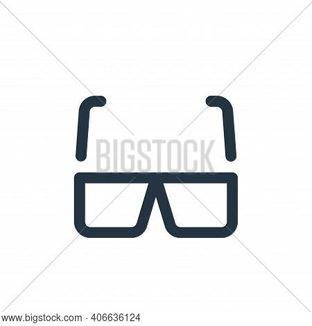 d glasses icon isolated on white background from video collection. d glasses icon thin line outline