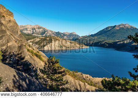 Lake Serre-poncon, Lac De Serre-poncon Is A Lake In Southeast France Near The Town Gap. It Is One Of