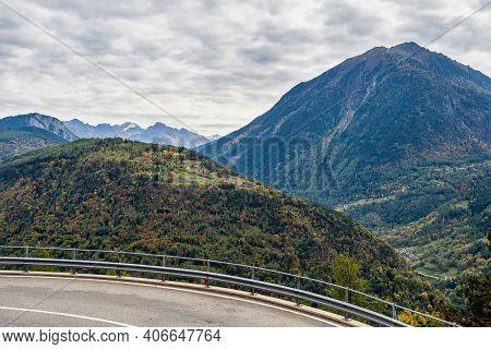 Place Between Col De Montets In France And Col De La Forclaz In Switzerland.