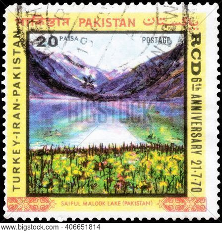 Saint Petersburg, Russia - November 12, 2020: Postage Stamp Issued In The Pakistan With The Image Of