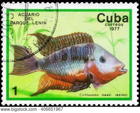 Saint Petersburg, Russia - December 05, 2020: Postage Stamp Issued In The Cuba With The Image Of The