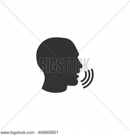 Speakerphone Icon In Simple Design. Vector Illustration