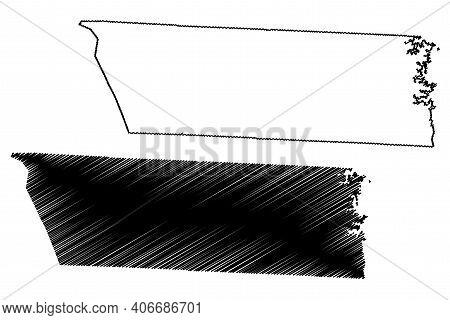 Lincoln County, North Carolina State (u.s. County, United States Of America, Usa, U.s., Us) Map Vect