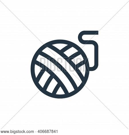 yarn ball icon isolated on white background from pet shop collection. yarn ball icon thin line outli