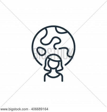 woman icon isolated on white background from life skills collection. woman icon thin line outline li