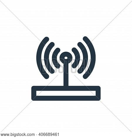 wireless router icon isolated on white background from user interface collection. wireless router ic