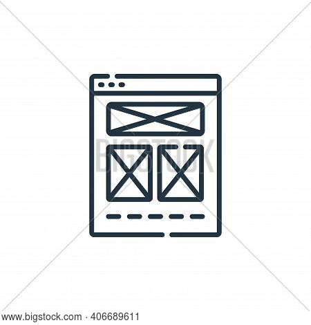 wireframe icon isolated on white background from web development collection. wireframe icon thin lin