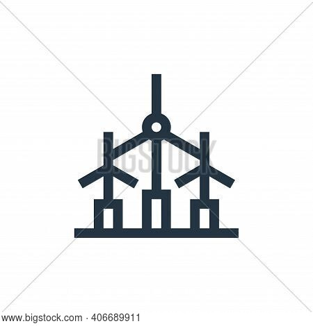 wind turbine icon isolated on white background from industrial process collection. wind turbine icon