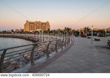 Ras Al Khaimah, United Arab Emirates - February 3, 2020: Marjan Island In Emirate Of Ras Al Khaimah
