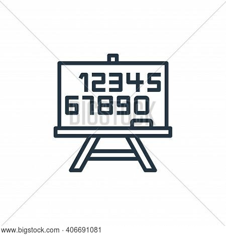 whiteboard icon isolated on white background from stationery collection. whiteboard icon thin line o