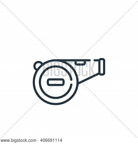whistle icon isolated on white background from baseball collection. whistle icon thin line outline l