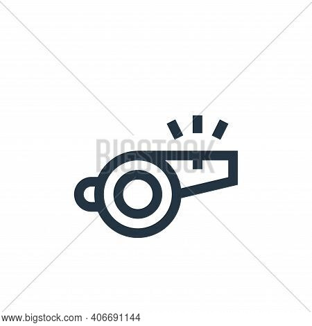 whistle icon isolated on white background from soccer collection. whistle icon thin line outline lin