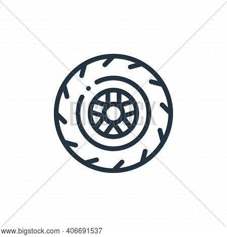 wheel icon isolated on white background from autoracing collection. wheel icon thin line outline lin