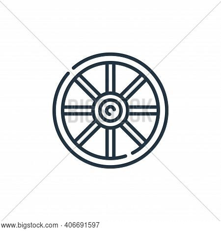 wheel icon isolated on white background from desert collection. wheel icon thin line outline linear
