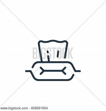 wet wipes icon isolated on white background from coronavirus collection. wet wipes icon thin line ou