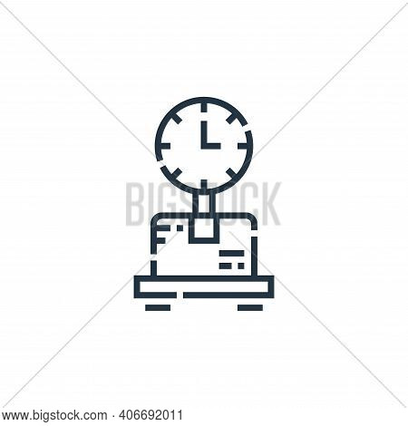 weighing scale icon isolated on white background from delivery collection. weighing scale icon thin
