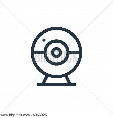 webcam icon isolated on white background from online learning collection. webcam icon thin line outl