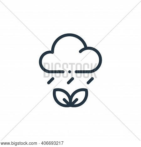 weather icon isolated on white background from ecology collection. weather icon thin line outline li