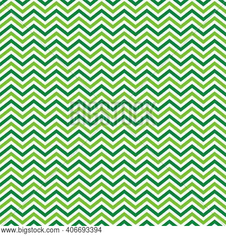 St. Patrick S Day Chevron Seamless Pattern. Green White Zigzag Background. Saint Patricks Backdrop.