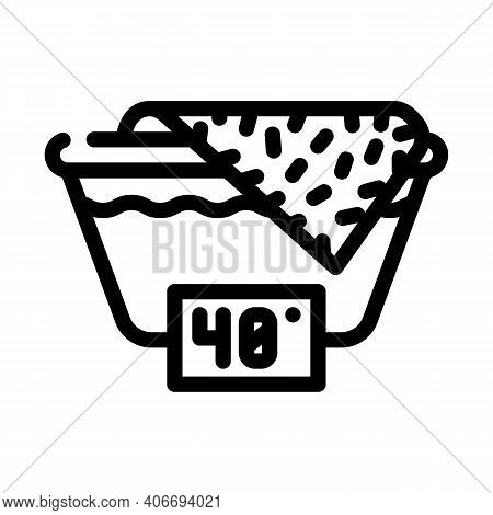 Wash Up To 40 Degrees Line Icon Vector Illustration