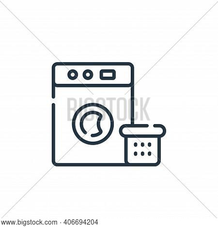 washing machine icon isolated on white background from free time collection. washing machine icon th