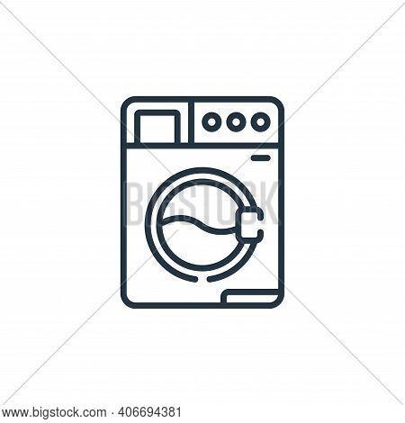 washing machine icon isolated on white background from sewing collection. washing machine icon thin