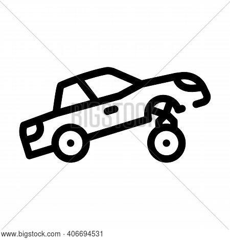 Car Rapper Line Icon Vector Illustration Flat