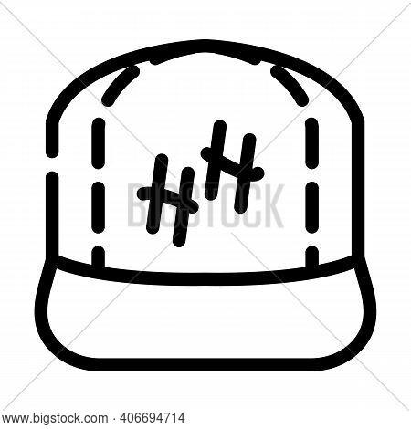 Cap Rapper Line Icon Vector Illustration Flat